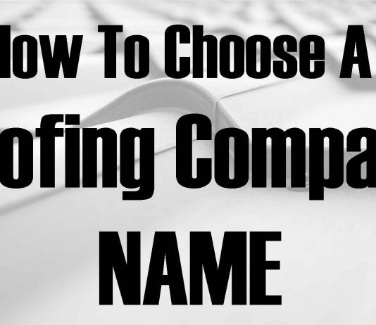 how to choose a roofing company name